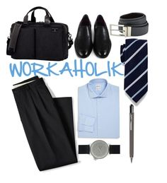 """#work #workaholik"" by ndien-bgt on Polyvore featuring Lands' End, Todd Snyder, Armani Collezioni, MIANSAI, ICE London, Victorinox Swiss Army, Cole Haan, English Laundry, men's fashion and menswear"