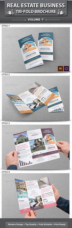 Real Estate Business Tri-fold Brochure | Volume 7