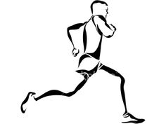 Runner Silhouette line art. Free for personal use. Tony Iommi, Runner Tattoo, Marathon Tattoo, Stand Up Paddle Board, Triathlon, Sport Fashion, Line Art, Tatoos, Logo Design