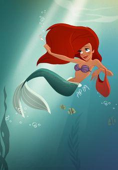 fuck yeah disney fanart — hellyeahdisneyfanart: Ariel.