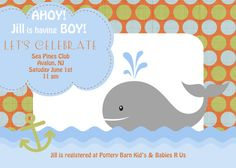 Super cute baby shower invitation from Styled Prints Design on Etsy