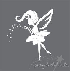 Hadas y estrellas de la pared de la etiqueta por FairyDustDecals