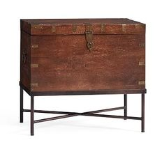 Timor Wood Trunk Accent Table #potterybarn