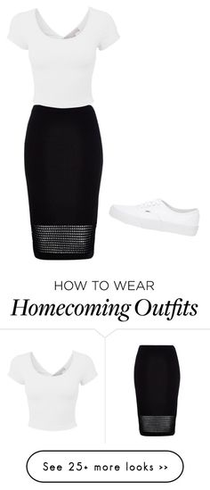 """homecoming"" by alexisrich on Polyvore featuring River Island and Vans"