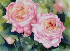 """""""The Pollinator"""" - Watercolor 11""""x15"""" AVAILABLE"""