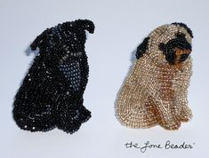 bead embroidery template | started beading this miniature poodle at last week's bead embroidery ...
