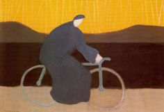Milton Avery - Bicycle Rider by the Loire, 1954.