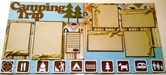 camping scrapbook pages | 365 Days Of Cricut: #53 Camping Trip Layout