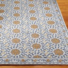 """Windflower Hand-Hooked Wool Area Rug - 2'6"""" X 4' - Frontgate"""