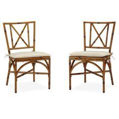 Home Styles Bimini Jim Dining Chair Pair with Cushion