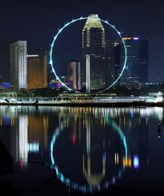 Singapore Flyer (Ferris Wheel): Singapore / The World's Tallest Ferris Wheel / photo by williamcho