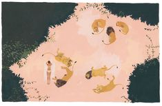 Pequeña selección de laspreciosas ilustraciones que hace Katrin Coetzer.