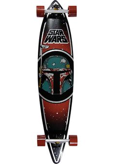 Santa-Cruz Star-Wars-Boba-Fett-Pintail - titus-shop.com #LongboardComplete…