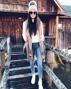 Winter Style With Jeans And Sneakers