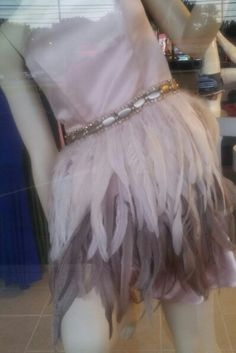 """Feather skirt strapless party dress... at """"All Dolled Up"""""""