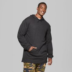 Men's Big & Tall Oversized Hooded Sweatshirt - Original Use Black 4XBT