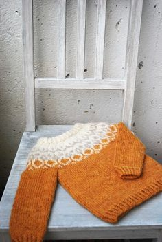 Baby Knitting Patterns Sweter Ravelry: Project Gallery for Alva pattern by Maria Vangen Baby Knitting Patterns, Knitting For Kids, Knitting Projects, Hand Knitting, Crochet Patterns, Icelandic Sweaters, Ravelry, Fair Isle Knitting, How To Purl Knit