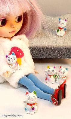 Blythe kitty cat friend  LUCKY CAT   kawaii by BlytheFairyTales