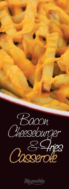 Bacon Cheeseburger & Fries Casserole