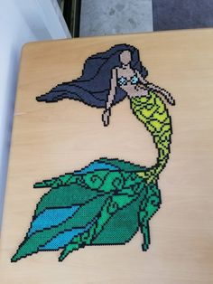 Mermaid perler, originally done by Adam Konkle