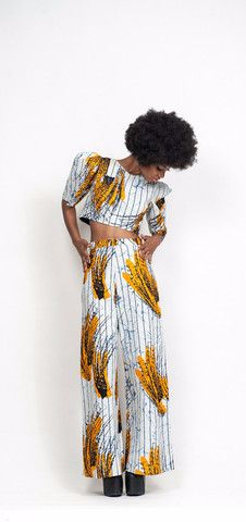 Imani Crop Top and Wide-Leg Pant Set