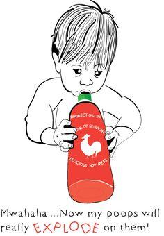 Baby eating sriracha sauce — deviledEG.com