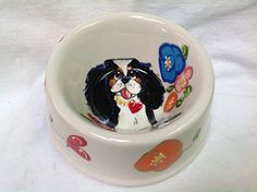 King Charles Cavalier 6 Dog Bowl for Food or Water Personalized at no Charge Signed by Artist Debby Carman *** You can find more details by visiting the image link. (This is an affiliate link) Dog Feeding, Cavalier King Charles, Dog Bowls, Image Link, Tableware, Water, Artist, Dogs, Dog Care