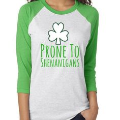 e10ec8f51c87 Items similar to Prone To Shenanigan's Tee | St Patricks Day, St Pattys Day,  Shamrock, Green, St Patricks Shirt, st pattys day shirts, kids st pattys day  on ...