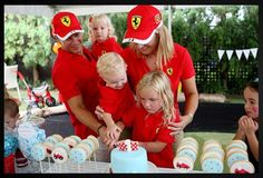 My husband wished he was invited to this party - based on Formula 1, this Ferrari race car party is hard to beat. Created my talented mu...