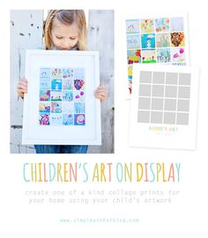 Are your child's art projects piling up? Here are some ideas on how to organize + display your child's artwork. #kids #art