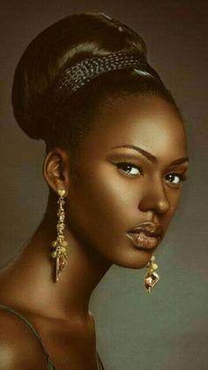 Black is beautiful Black Girl Art, Black Women Art, Black Girl Magic, Black Girls, Beautiful Dark Skinned Women, Beautiful Black Women, Beautiful Soul, African Beauty, African Women