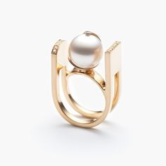 Melted gold and white pearl.