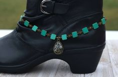 Green boot jewelry, boot bling, gift for her, stocking stuffer, Christmas gift by CustomAnkletsByLori on Etsy Boot Jewelry, Western Jewelry, Jewlery, Cowgirl Jewelry, Cowgirl Boots, Western Boots, Unusual Wedding Rings, Black Diamond Bands, Boot Bracelet