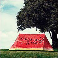 watermelon tent, yes please FieldCandy Tent: What a Melon