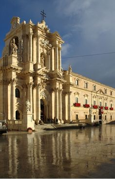 Main church in Ortygia, southern Italy