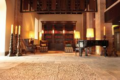 JW Marriott Cusco in Peru This hotel's historic vibe is one that makes even non-readers want to pick up a book. An ancient monastery's vaulted pre-Incan halls lead to the library, where oversized candles will lend a mystic air to your Don Quixote session. Cusco Peru, Home Libraries, Hotel Interiors, Train Rides, Beautiful Space, Best Hotels, Architecture Design, Inspiration, Places
