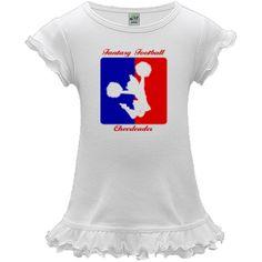 Fantasy Football Cheerleader White Baby dress $19.99