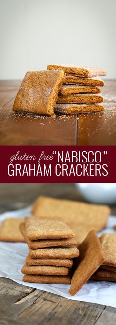 Free Graham Crackers Gluten Free Nabisco-Style Graham Crackers—just like the real thing!Gluten Free Nabisco-Style Graham Crackers—just like the real thing! Gluten Free Deserts, Gluten Free Sweets, Foods With Gluten, Gluten Free Cookies, Gluten Free Baking, Dairy Free Recipes, Gf Recipes, Wheat Free Baking, Vegan Sweets