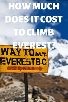 Planning a trip to climb Mount Everest and not sure how much to budget? Go Hiking, Hiking Trails, Outdoor Travel, Outdoor Gear, Amazing Destinations, Travel Destinations, Climbing Everest, Training Plan, Adventure Travel