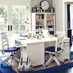 Furniture Study Room Ideas: Blue White Study Room Ideas ~ interhomedesigns.com Kids Room Design Inspiration