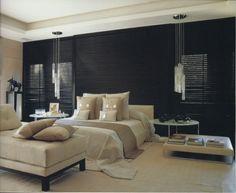 Bedroom Lighting and focal wall
