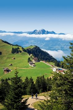 Monte Rigi. Suiza. I walked the Rigi many times. Would love to do it again!