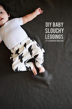 DIY Baby Leggings : DIY Baby Slouchy Leggings