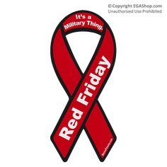 RED FRIDAY Auto Ribbon Magnet at the EGA Shop!