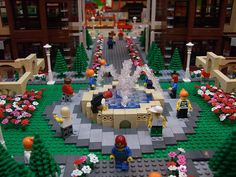 LEGO Sport City. I love that fountain!
