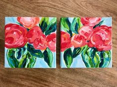 Step by Step Flowers on Canvas with Acrylic Paint for Beginners! Artist Elle Byers is teaching her easy flower painting process in online video tutorials. Easy Flower Painting, Acrylic Painting Flowers, Simple Acrylic Paintings, Abstract Landscape Painting, Abstract Flowers, Acrylic Painting Canvas, Canvas Painting Tutorials, Acrylic Painting For Beginners, Step By Step Painting
