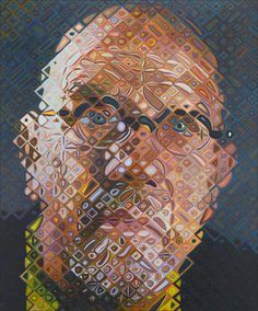 Chuck Close · Self Portrait · 2009 · Private Collection