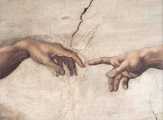 Detail of Michelangelo's The Creation of Adam.