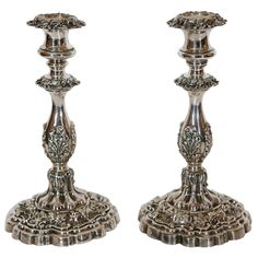 Antique Silver Plated Austrian Candlesticks | From a unique collection of antique and modern sheffield and silverplate at http://www.1stdibs.com/furniture/dining-entertaining/sheffield-silverplate/