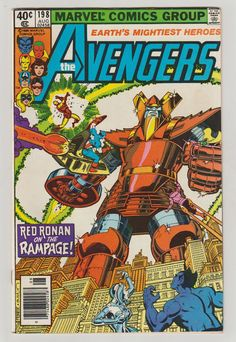 Avengers Vol 1 198 Bronze Age Comic Book. by RubbersuitStudios #avengers #comicbooks